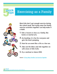 5 Quick Tips: Exercising as a Family