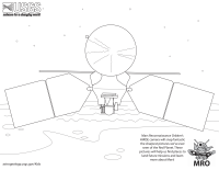 Mars Orbiter Coloring Page
