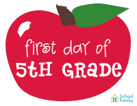 First Day of School Mini-Poster: 5th Grade