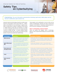 Safety Tips on Cyberbullying from Trend Micro