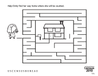Census Worksheets: Find Your Way Home Maze