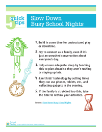 5 Quick Tips: Slow Down Busy School Nights