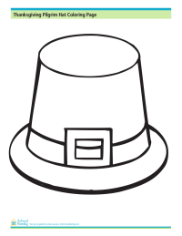 Thanksgiving Pilgrim Hat Coloring Page
