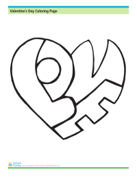 Valentine's Day Coloring Page: Love Puzzle