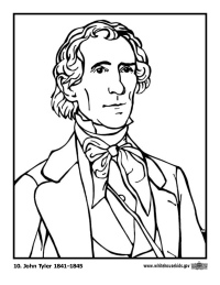 John Tyler Coloring Page