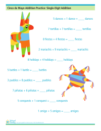 Cinco de Mayo Addition Practice: Single-Digit Addition