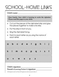 Alphabet Song Activity