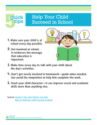5 Quick Tips: Help Your Child Succeed in School