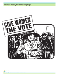 Women's History Month Coloring Page: March for Suffrage