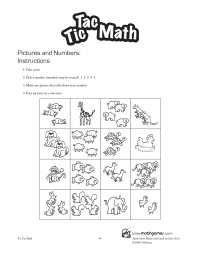 Tic Tac Math: Pictures and Numbers Games