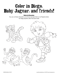 Go, Diego, Go! Coloring Page