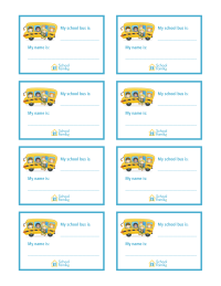 Back-to-School: School Bus Name Badges