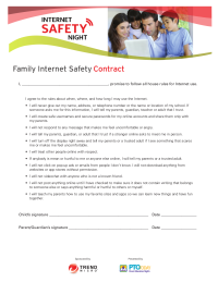 Family Internet Safety Contract
