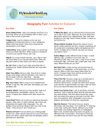 Geography Fun! Activities for Everyone