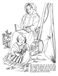 Oregon Trail Families Coloring Page