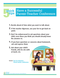 5 Quick Tips: Have a Successful Parent-Teacher Conference