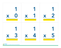 Math Flash Cards: Multiplication (no answers)