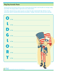 Flag Day Acrostic Poem
