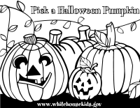 Pick a Halloween Pumpkin Coloring Printable