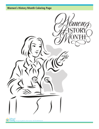 Women's History Month Coloring Page