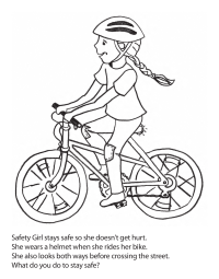 Safety Girl Coloring Page