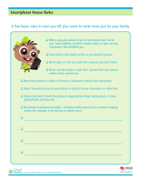 Smartphone House Rules Template
