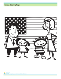 Census Coloring Page: Family