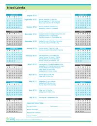 2012-2013 School Calendar