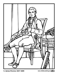 James Monroe Coloring Page