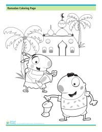Ramadan Coloring Page: Celebration!