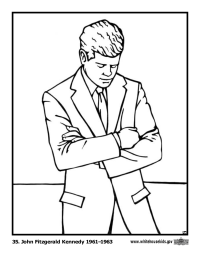 John Fitzgerald Kennedy Coloring Page