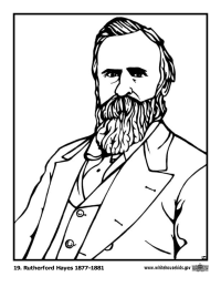 Rutherford Hayes Coloring Page