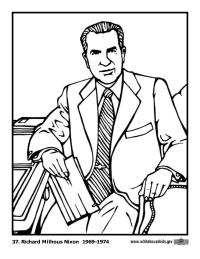 Richard Nixon Coloring Page