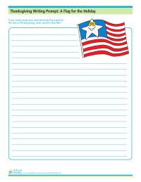 Thanksgiving Writing Prompt: A Flag for the Holiday