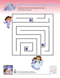 Dora Saves the Snow Princess Activities