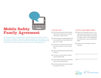 Mobile Safety Guide: Family Agreement (short version)