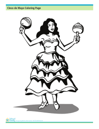 Cinco de Mayo Coloring Page: Dancing