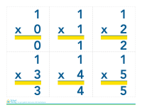Math Flash Cards: Multiplication (answers printed)