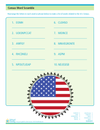 Census Worksheet: Word Scramble