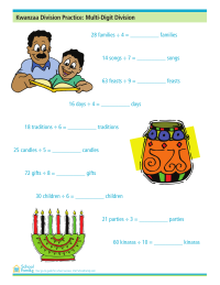 Kwanzaa Division Practice: Multi-Digit Division