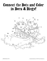 Diego and Dora Connect the Dots