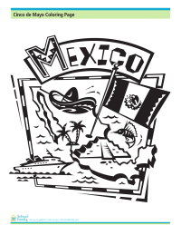 Cinco de Mayo Coloring Page: Symbols of Mexico