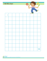 Math Counting Fill-In Chart (1-100)