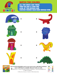 Dinos: Match the Colors