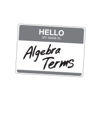 Algebra Terms Math Game: What's My Name?
