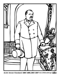 Grover Cleveland Coloring Page