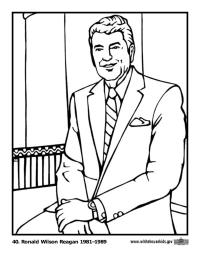 Ronald Reagan Coloring Page