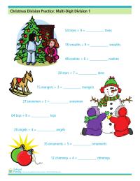 Christmas Division Practice: Mutli-Digit Division