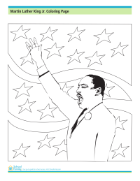 Martin Luther King, Jr., Coloring Page