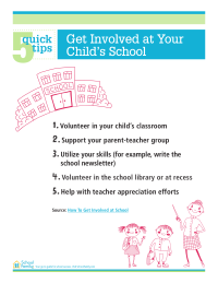 5 Quick Tips: Get Involved at Your Child's School